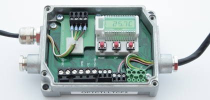 The electronic box enables an easy switching of digital interfaces