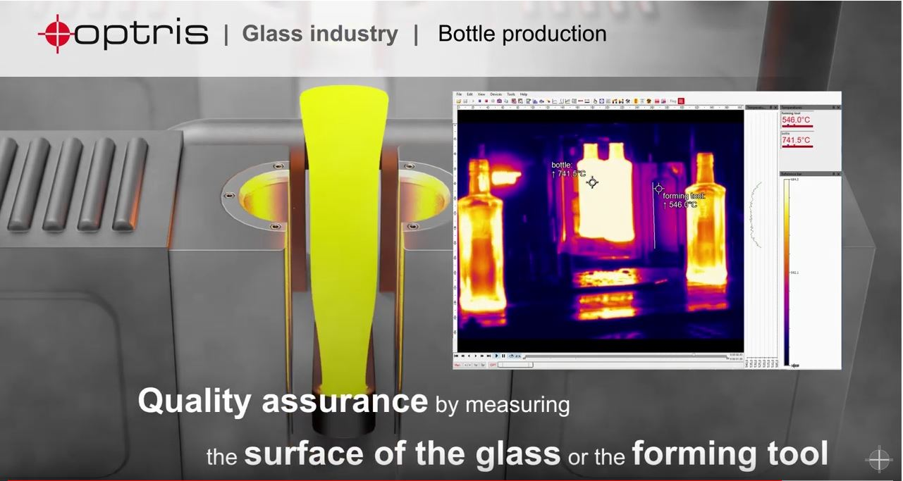Temperature monitoring in the glass industry